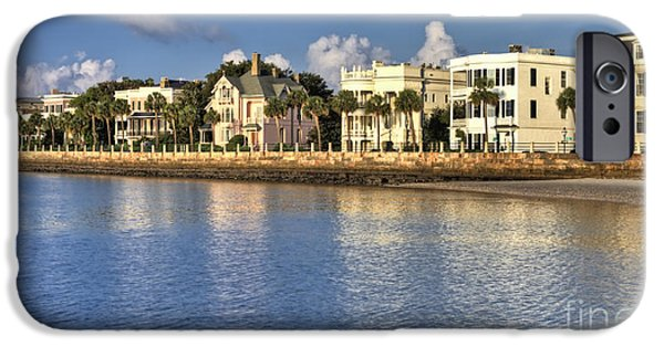 House iPhone Cases - Charleston Battery Row South Carolina  iPhone Case by Dustin K Ryan