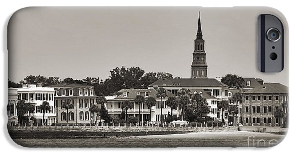 Joseph iPhone Cases - Charleston Battery South Carolina Sepia iPhone Case by Dustin K Ryan