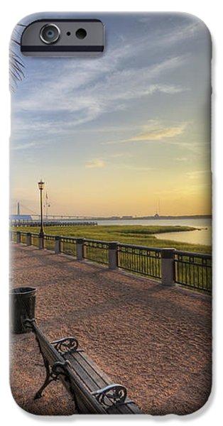 Charleston SC waterfront park sunrise  iPhone Case by Dustin K Ryan