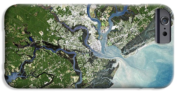 21st Century iPhone Cases - Charleston, South Carolina, Usa iPhone Case by Planetobserver