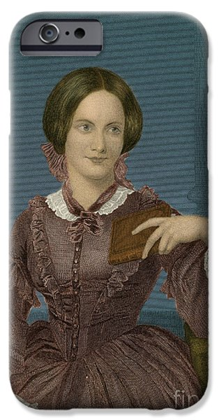Charlotte iPhone Cases - Charlotte Bronte, English Author iPhone Case by Photo Researchers
