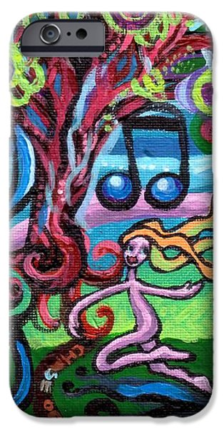 Chase Of The Faerie Note Bubble iPhone Case by Genevieve Esson