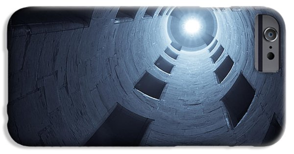 Toned iPhone Cases - Chateau de Chambord Double Staircase iPhone Case by Sebastian Musial