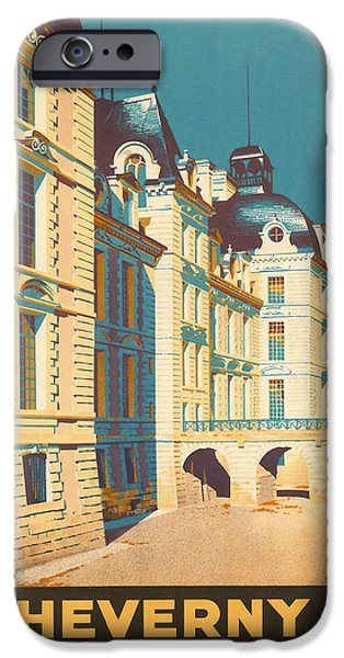Architecture Digital iPhone Cases - Chateau de Cheverny iPhone Case by Nomad Art And  Design