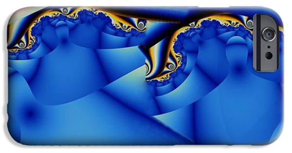 Chatham Digital Art iPhone Cases - Chatham Blue 1 iPhone Case by Ron Bissett