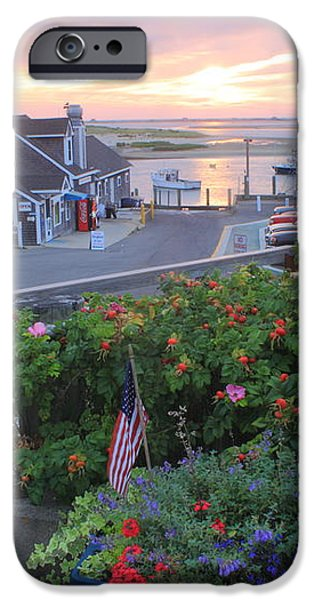 Chatham Fish Pier Summer Flowers Cape Cod iPhone Case by John Burk