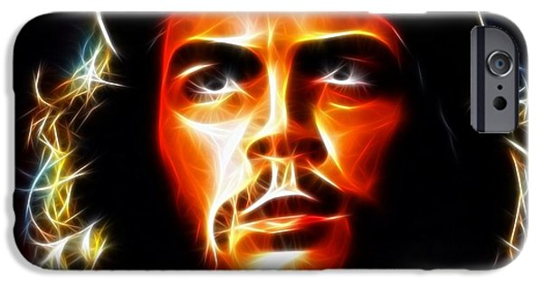 Revolution Mixed Media iPhone Cases - El Che Guevara iPhone Case by Pamela Johnson