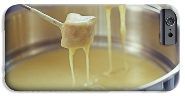 Dunk iPhone Cases - Cheese Fondue iPhone Case by David Munns