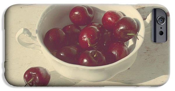 Cherry Art iPhone Cases - Cherries Still Life  iPhone Case by Svetlana Novikova