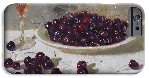 Cherry iPhone Cases - Cherries iPhone Case by Ylli Haruni