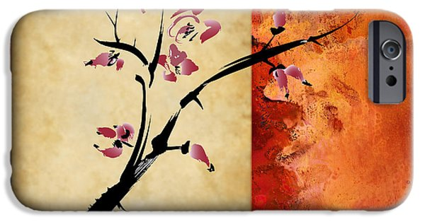Cherry Blossoms Mixed Media iPhone Cases - Cherry Blossom iPhone Case by Rob Tullis