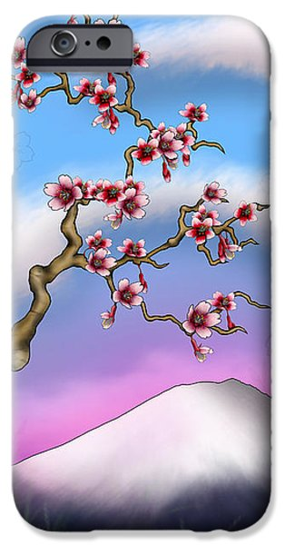 Cherry Blossoms Mixed Media iPhone Cases - Cherry Blossoms iPhone Case by Anthony Citro
