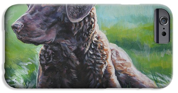 Chesapeake iPhone Cases - Chesapeake Bay Retriever iPhone Case by Lee Ann Shepard