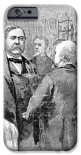 Inauguration iPhone Cases - Chester Alan Arthur iPhone Case by Granger