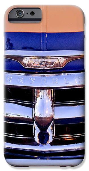 Chevrolet Pickup Truck Grille Emblem iPhone Case by Jill Reger