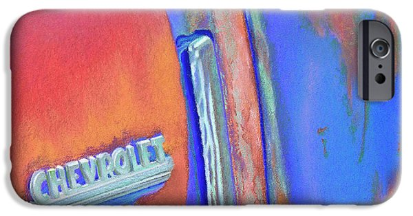 Transportation Pastels iPhone Cases - Chevy Blues iPhone Case by Tracy L Teeter