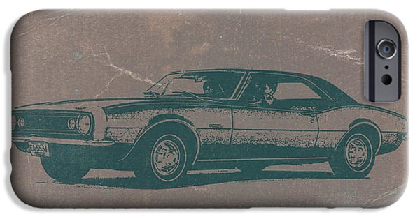Vintage Car iPhone Cases - Chevy Camaro iPhone Case by Naxart Studio