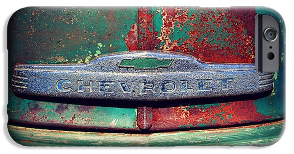 Old Trucks Photographs iPhone Cases - Chevy Rust iPhone Case by Perry Webster