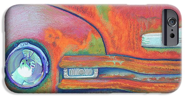 Transportation Pastels iPhone Cases - Chevy Rust iPhone Case by Tracy L Teeter