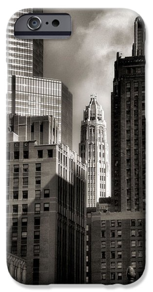 Ely Arsha iPhone Cases - Chicago Architecture - 13 iPhone Case by Ely Arsha
