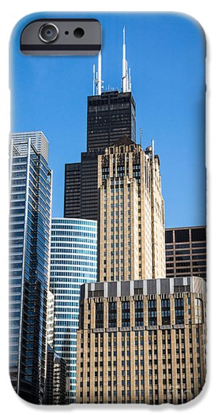 Sears Tower iPhone Cases - Chicago Buildings with Willis-Sears Tower iPhone Case by Paul Velgos