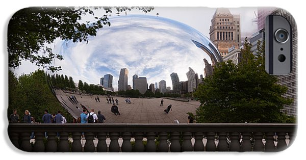 The Bean iPhone Cases - Chicago Cloud Gate Bean Sculpture iPhone Case by Paul Velgos