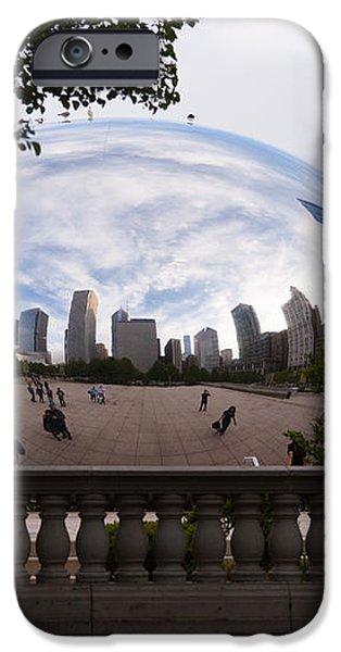 Chicago Cloud Gate Bean Sculpture iPhone Case by Paul Velgos