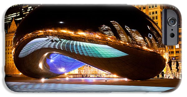 Chicago iPhone Cases - Chicago Cloud Gate Luminous Field iPhone Case by Paul Velgos