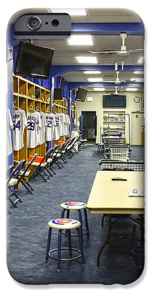 Chicago Cubs Dressing Room iPhone Case by David Bearden