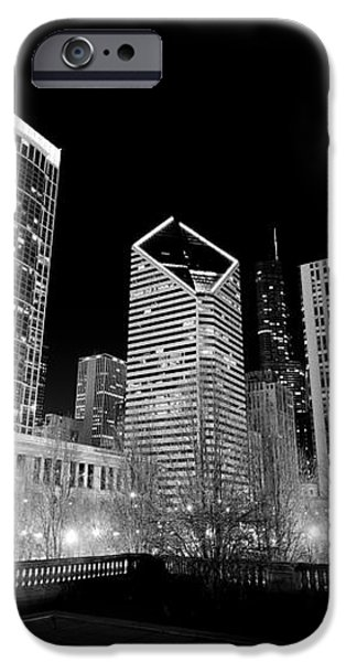 Chicago Downtown at Night  iPhone Case by Paul Velgos