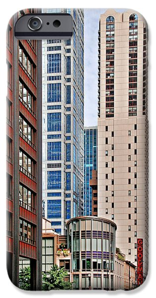 Historic Buildings iPhone Cases - Chicago - Goodman Theatre iPhone Case by Christine Till