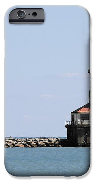 Chicago Harbor Light iPhone Case by Christine Till