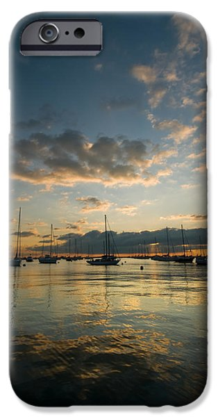 Sailing iPhone Cases - Chicago Harbor Sunrise iPhone Case by Steve Gadomski