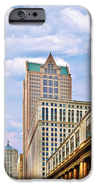 Chicago - Looking south from LaSalle Street iPhone Case by Christine Till