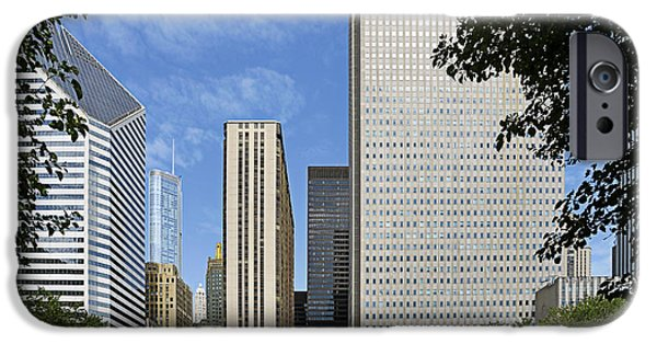 Wrigley iPhone Cases - Chicago Millennium Monument and Fountain iPhone Case by Christine Till