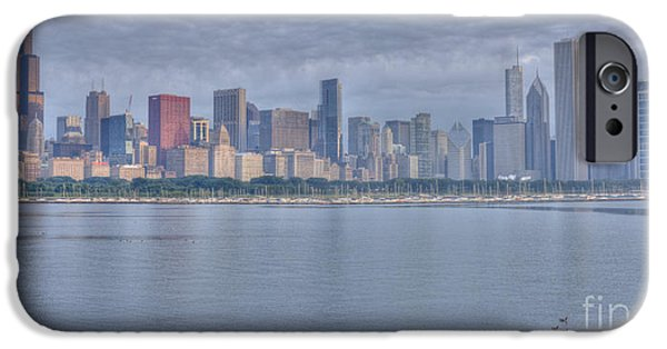 Willis Tower iPhone Cases - Chicago Morning iPhone Case by David Bearden