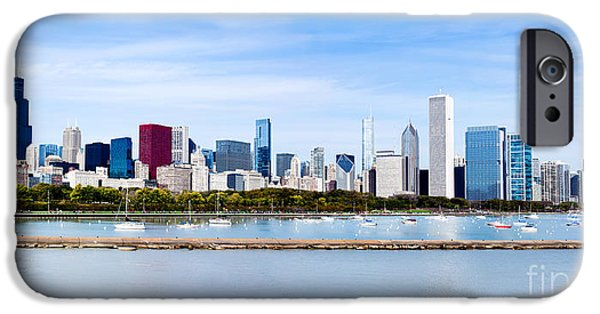 Sears Tower iPhone Cases - Chicago Panarama Skyline iPhone Case by Paul Velgos