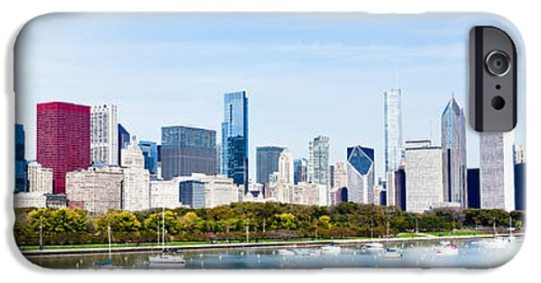 Chicago iPhone Cases - Chicago Panorama Skyline iPhone Case by Paul Velgos