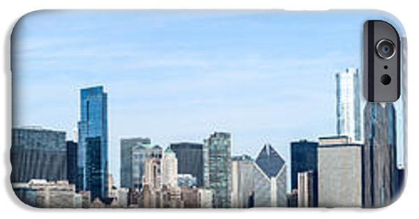 Willis Tower iPhone Cases - Chicago Panoramic Skyline High Resolution Picture iPhone Case by Paul Velgos
