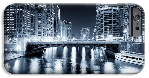 Airline iPhone Cases - Chicago River at State Street Bridge iPhone Case by Paul Velgos