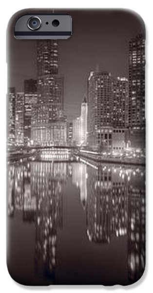 Chicago River East BW iPhone Case by Steve Gadomski