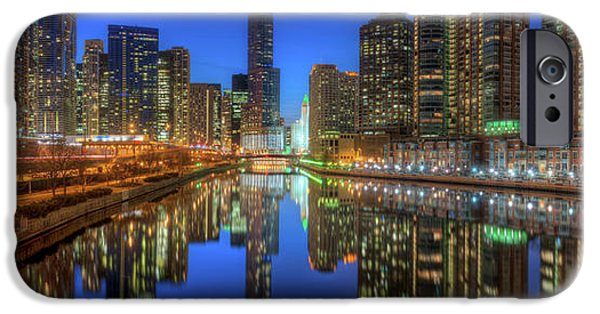 Sears Tower iPhone Cases - Chicago River East iPhone Case by Steve Gadomski