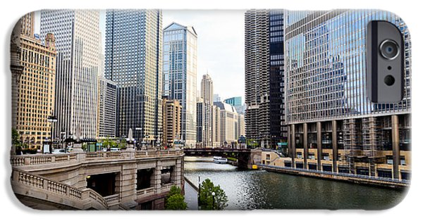 Sears Tower iPhone Cases - Chicago River Skyline Building Architecture iPhone Case by Paul Velgos