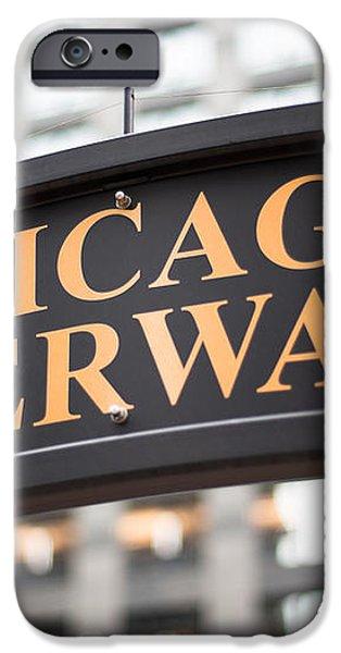 Chicago Riverwalk Sign iPhone Case by Paul Velgos