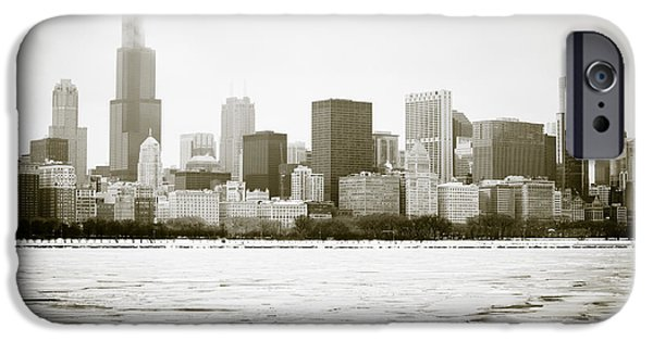 Sears Tower iPhone Cases - Chicago Skyline in Winter  iPhone Case by Paul Velgos