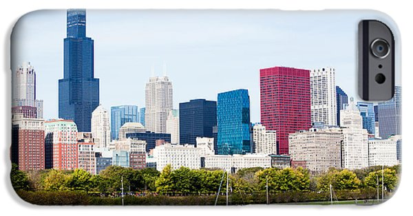 Willis Tower iPhone Cases - Chicago Skyline Lakefront iPhone Case by Paul Velgos