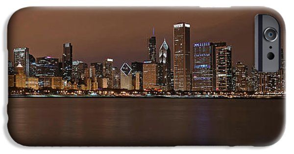 Sears Tower iPhone Cases - Chicago Skyline Panorama iPhone Case by Eddie Yerkish