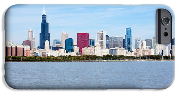 Sears Tower iPhone Cases - Chicago Skyline iPhone Case by Paul Velgos