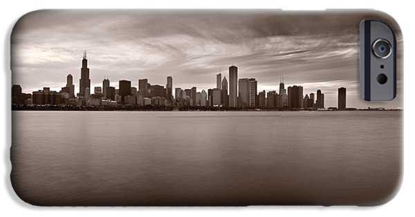 Sears Tower iPhone Cases - Chicago Storm iPhone Case by Steve Gadomski