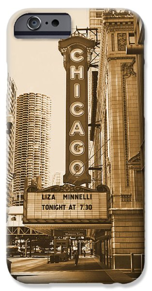 Ely Arsha iPhone Cases - Chicago Theater - 3 iPhone Case by Ely Arsha